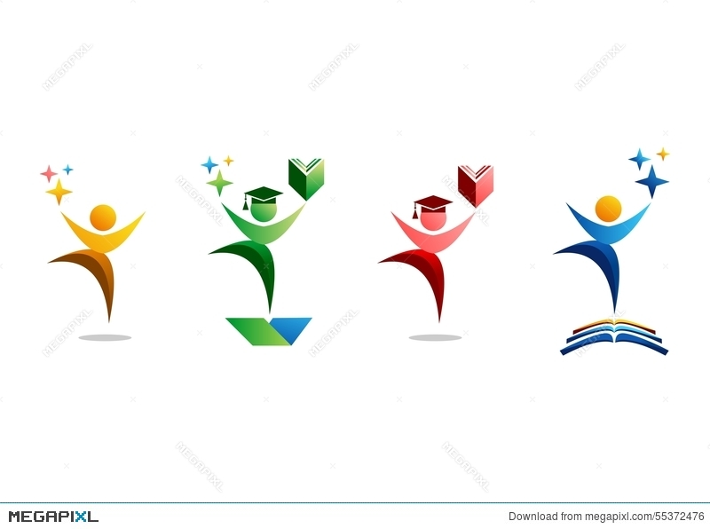 Celebrate clipart abstract. Education logo people celebration