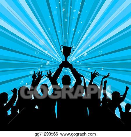 Celebrate clipart achievement. Stock illustration trophy represents