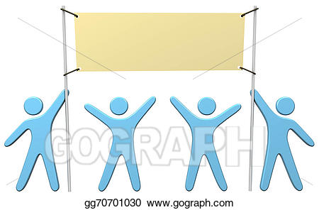 Announcements clipart team. Stock illustration people celebrate
