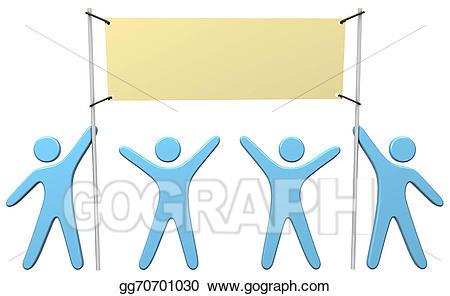 Celebrate clipart achievement. Stock illustration people team