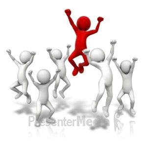 Jump around and . Celebrate clipart animated