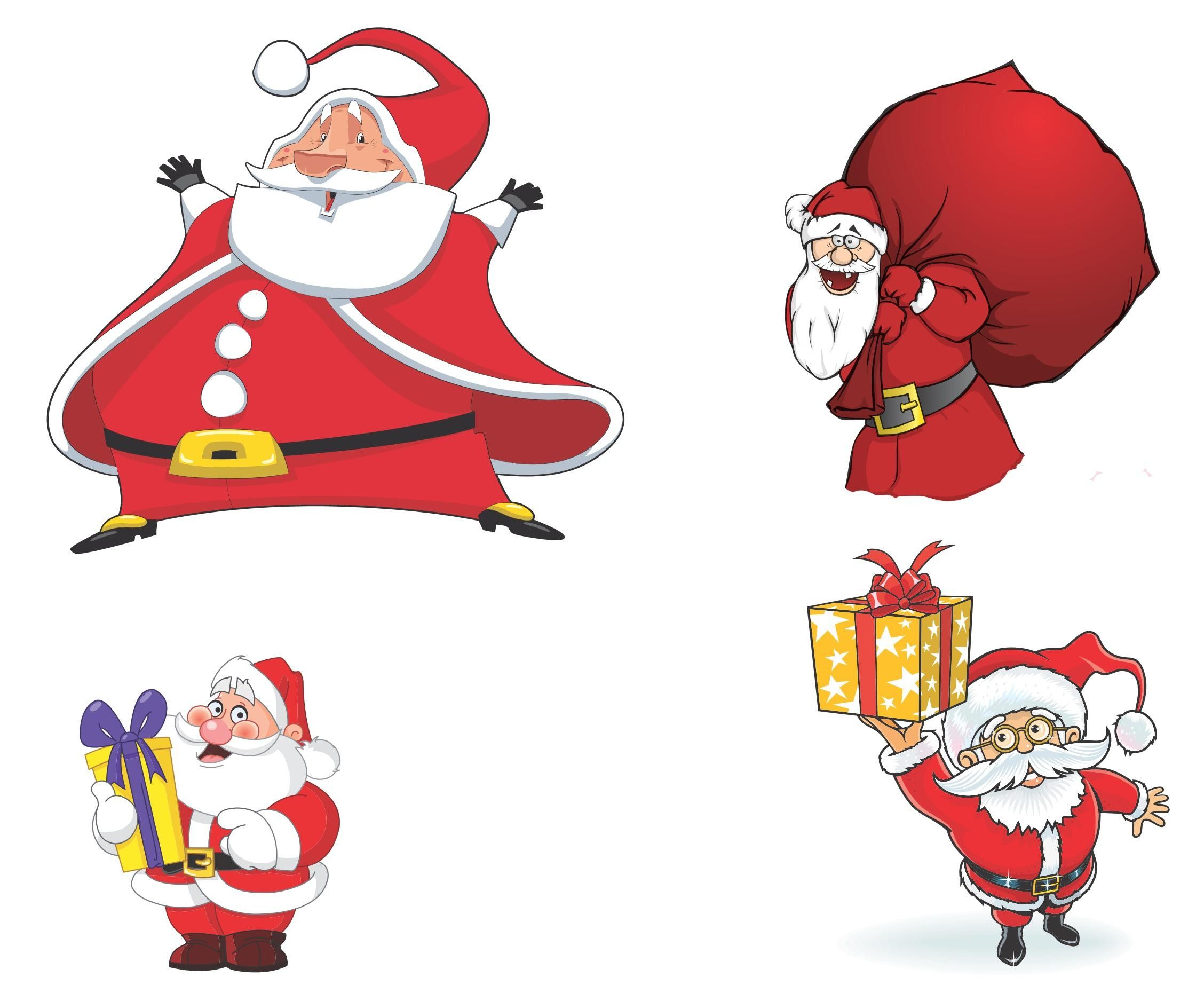 Celebrate clipart artwork. Cartoon santa claus vector