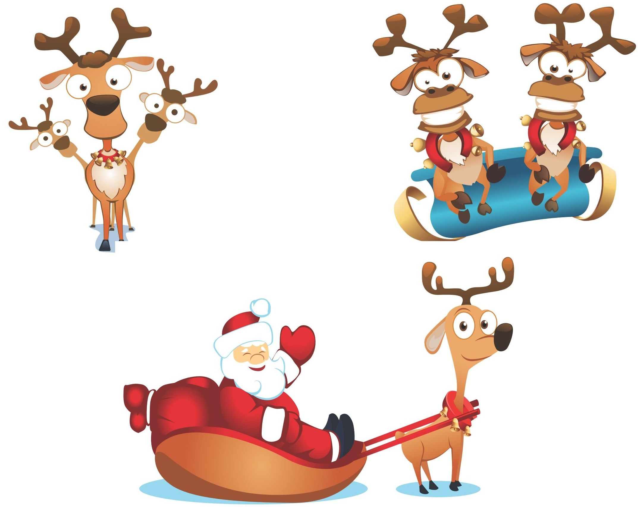 Celebrate clipart artwork. Cute santa vector eps