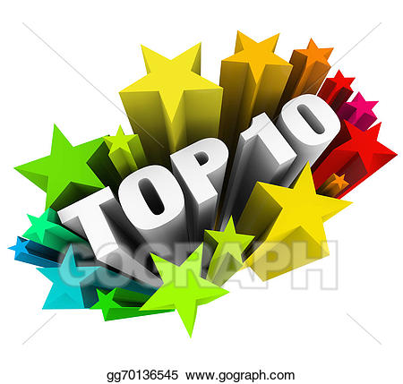 Stock illustration top ten. Celebrate clipart award