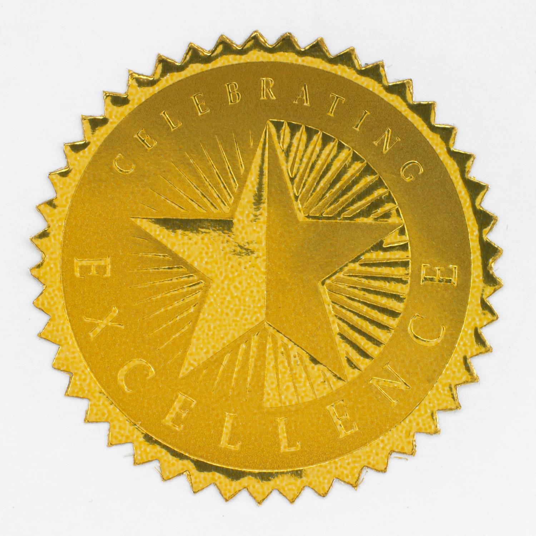 Celebrating excellence gold foil. Celebrate clipart award