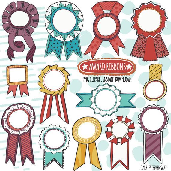 Celebrate clipart award. Colorful ribbon digital graphics