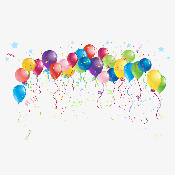 Colored balloons color celebration. Celebrate clipart balloon