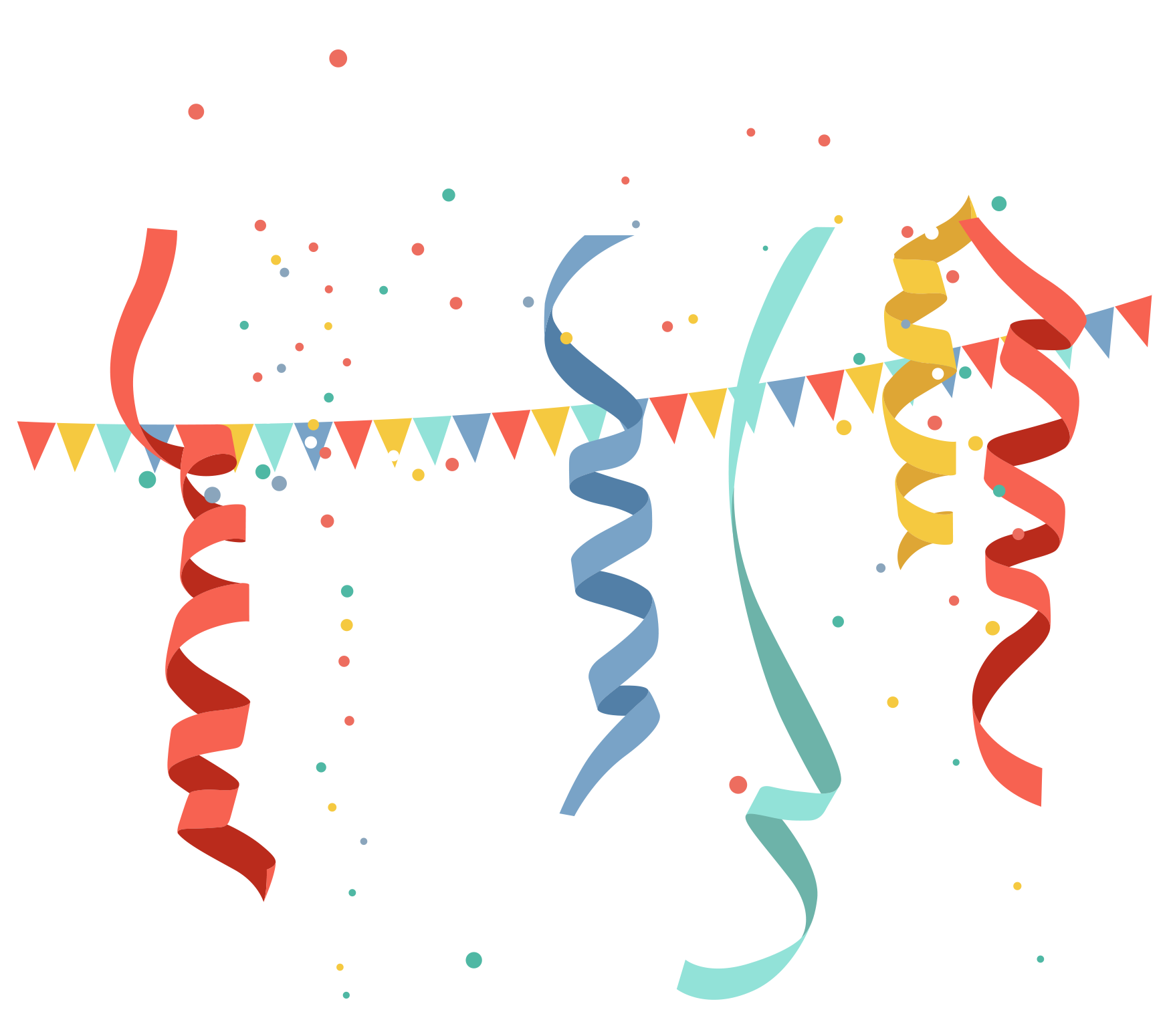 Birthday party clip art. Celebrate clipart banner