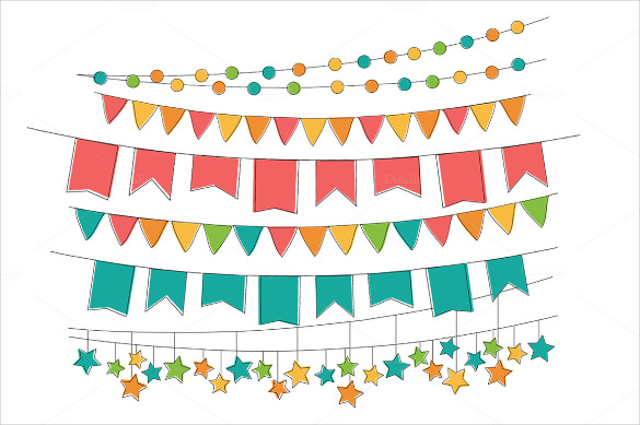 Celebrate clipart banner.  triangle templates free