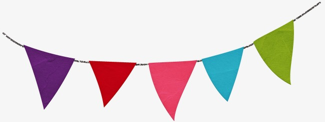 Bunting flag png image. Celebrate clipart banner