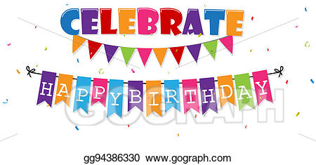 Stock illustration birthday celebration. Celebrate clipart banner