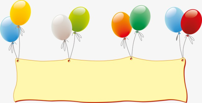 Floating balloons birthday celebration. Celebrate clipart banner