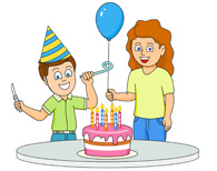 Birthday for boys tn. Celebrate clipart bday