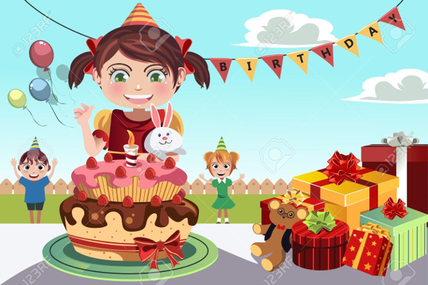 birthday cliparts vector. Celebrate clipart bday