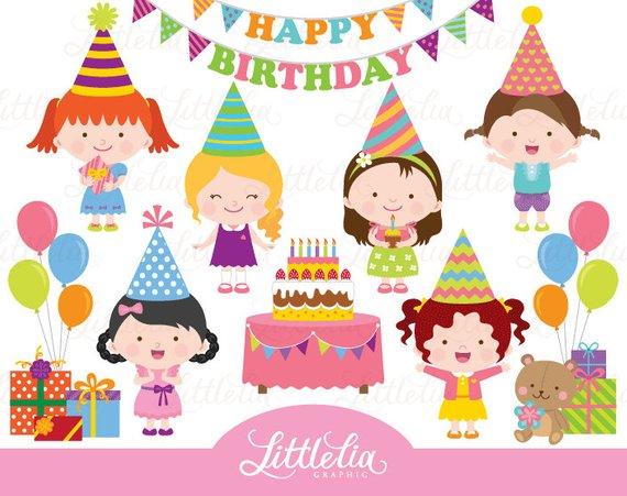 Birthday girl celebration . Celebrate clipart bday