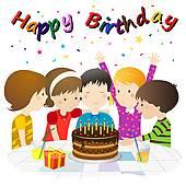 Free birthday celebration cliparts. Celebrate clipart bday