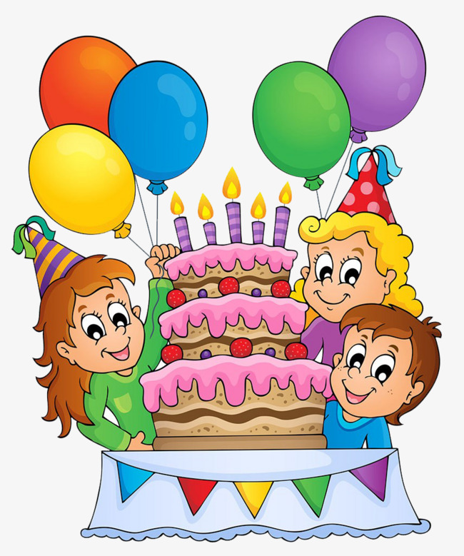 Celebrate clipart birthday cake. Celebration balloon people png
