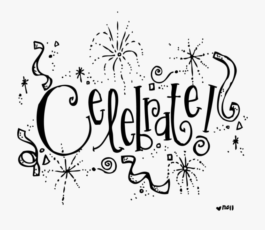 Thanksgiving birthday clip art. Celebrate clipart black and white