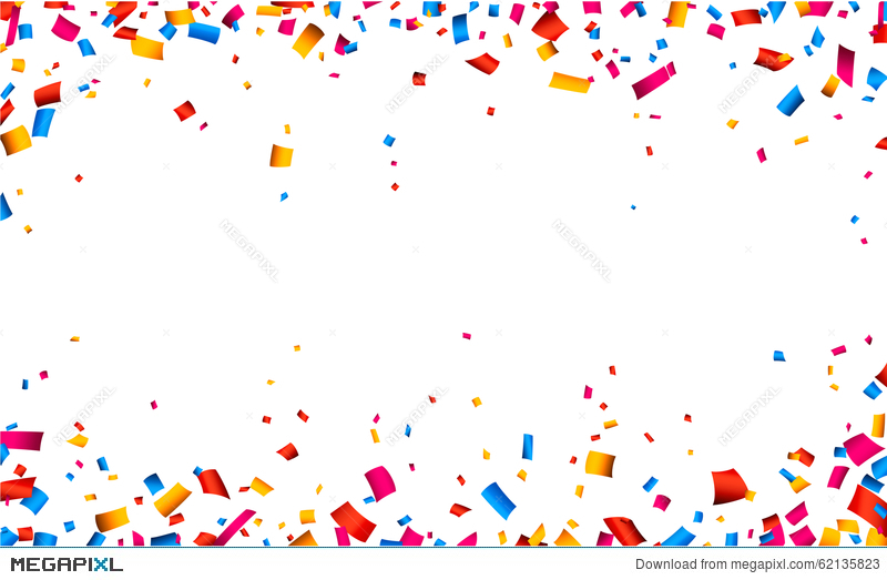 Celebrate clipart border. Confetti celebration frame background