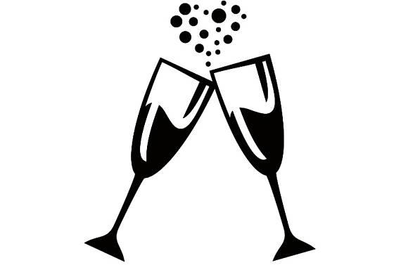 Champaign clipart celabration. Champagne glasses celebration celebrate