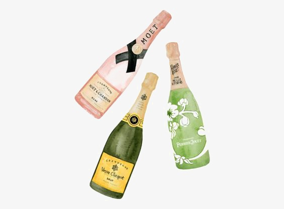 Celebrate clipart champagne. Hand painted watercolor png