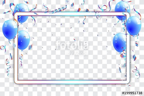 Confetti and titanium rainbow. Celebrate clipart clear background