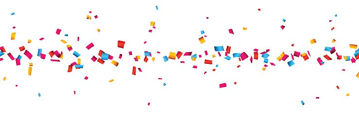 Celebration banner premium clipartlogo. Celebrate clipart confetti