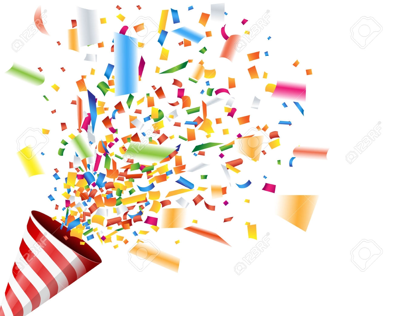 Celebrate clipart confetti. New celebration design digital
