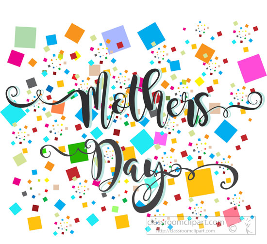 Mothers day pattern celebration. Celebrate clipart confetti