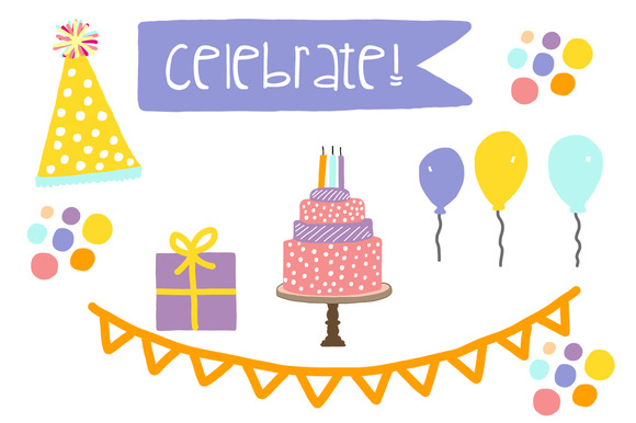 Clip art party celebration. Celebrate clipart cute