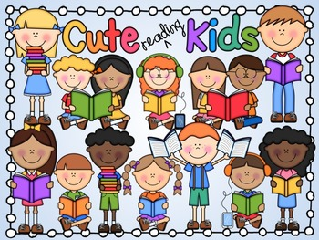 Celebrate clipart cute. Kids reading by living