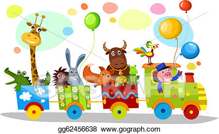 Vector art train drawing. Celebrate clipart cute