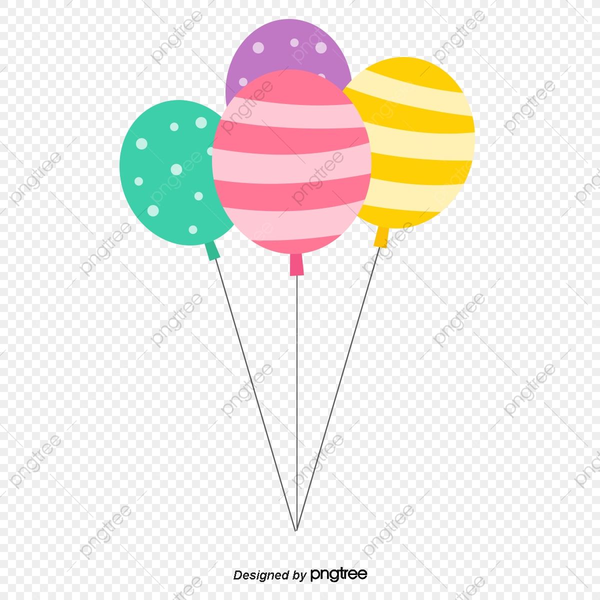 Cartoon color balloon for. Celebrate clipart cute
