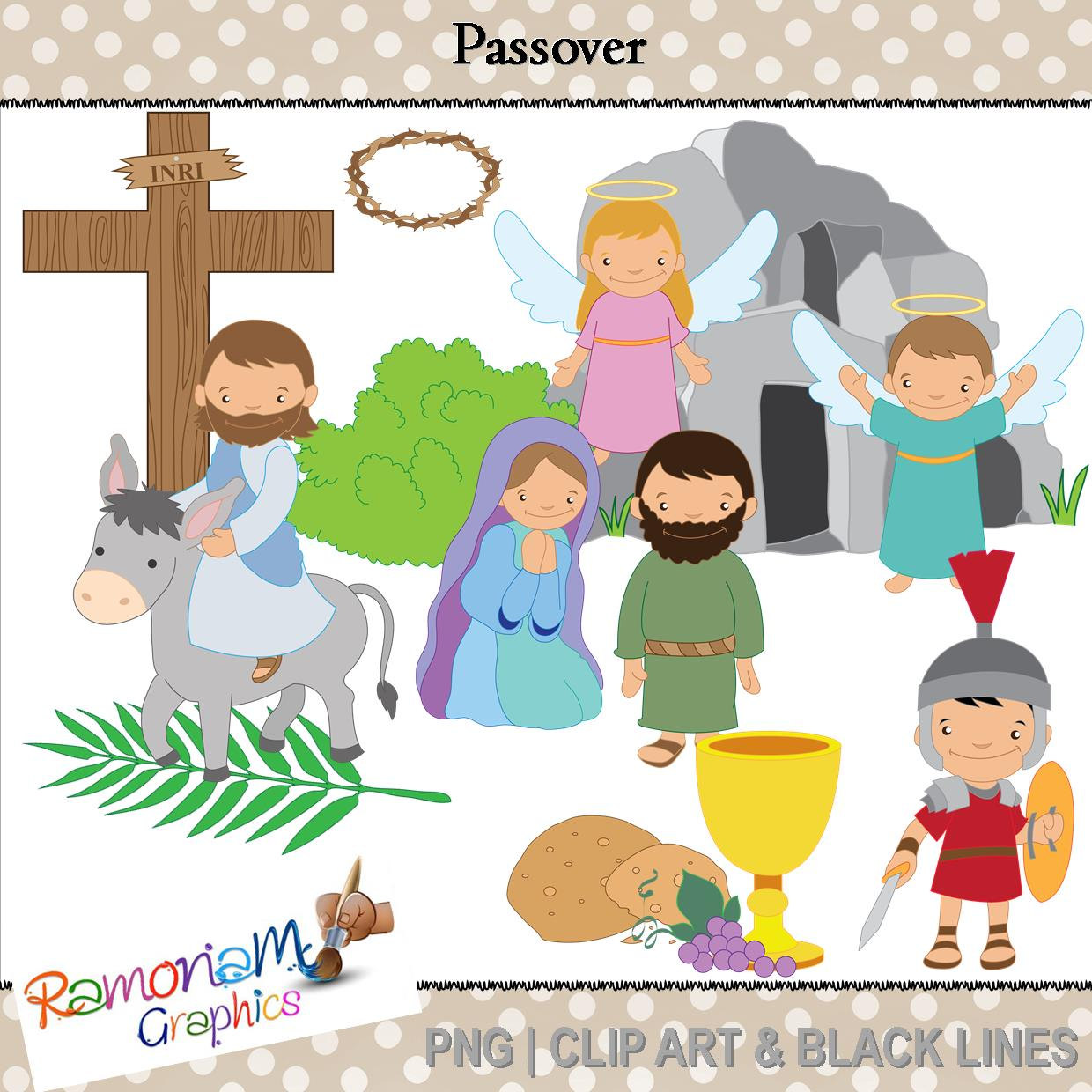 Passover religious clip art. Celebrate clipart easter
