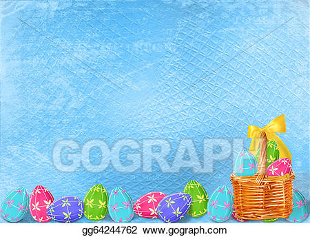 Drawing pastel background with. Celebrate clipart easter