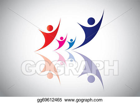Happy young family couple. Celebrate clipart event