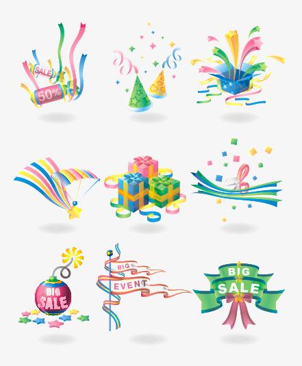 Celebrate clipart event. Color celebration elements gift