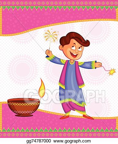 Vector stock kid enjoying. Celebrate clipart firecracker