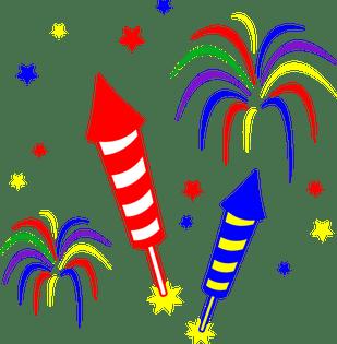 Civic holiday fireworks gravenhurst. Celebrate clipart firework