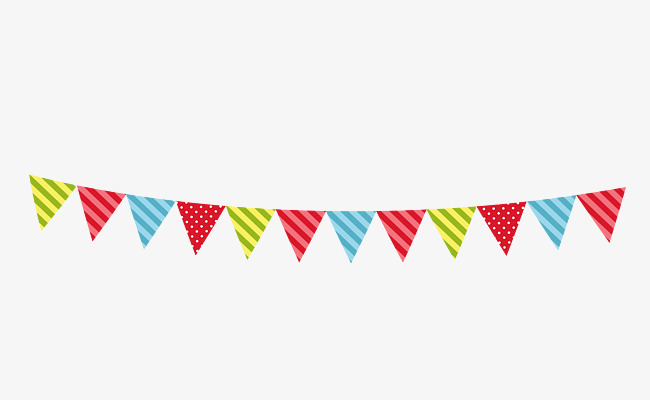Celebrate clipart flag. Triangle hand painted png