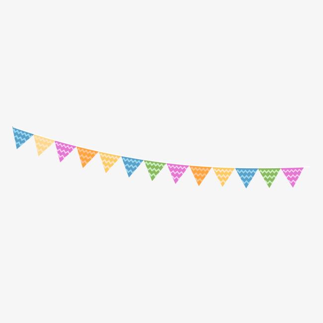 Cartoon birthday party vector. Celebrate clipart flag