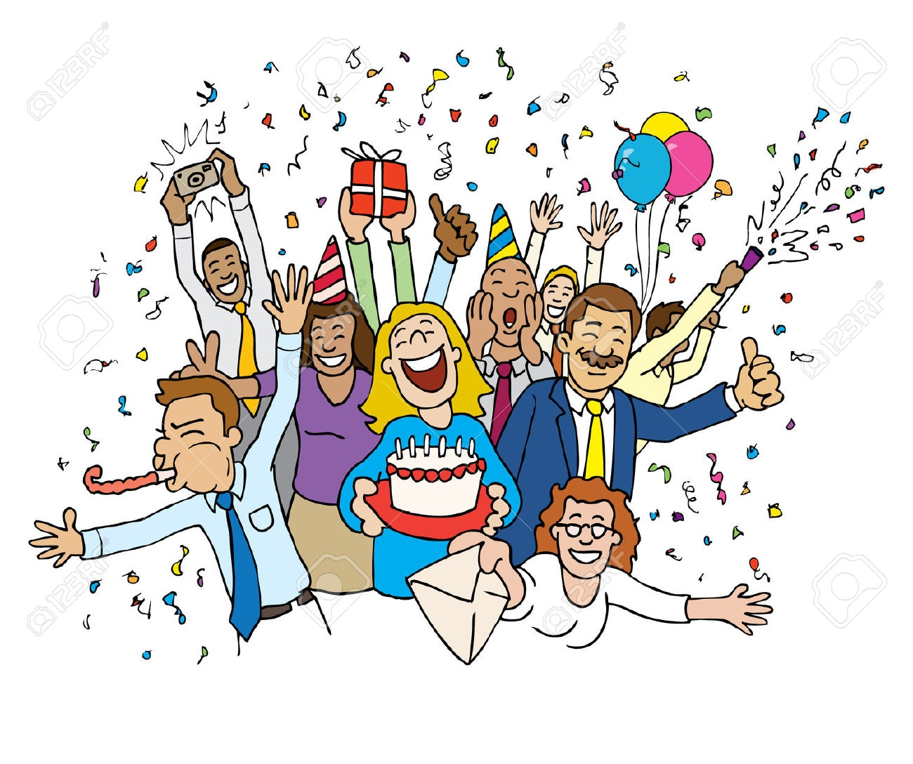 Celebrate clipart fun. Birthday celebration best happy