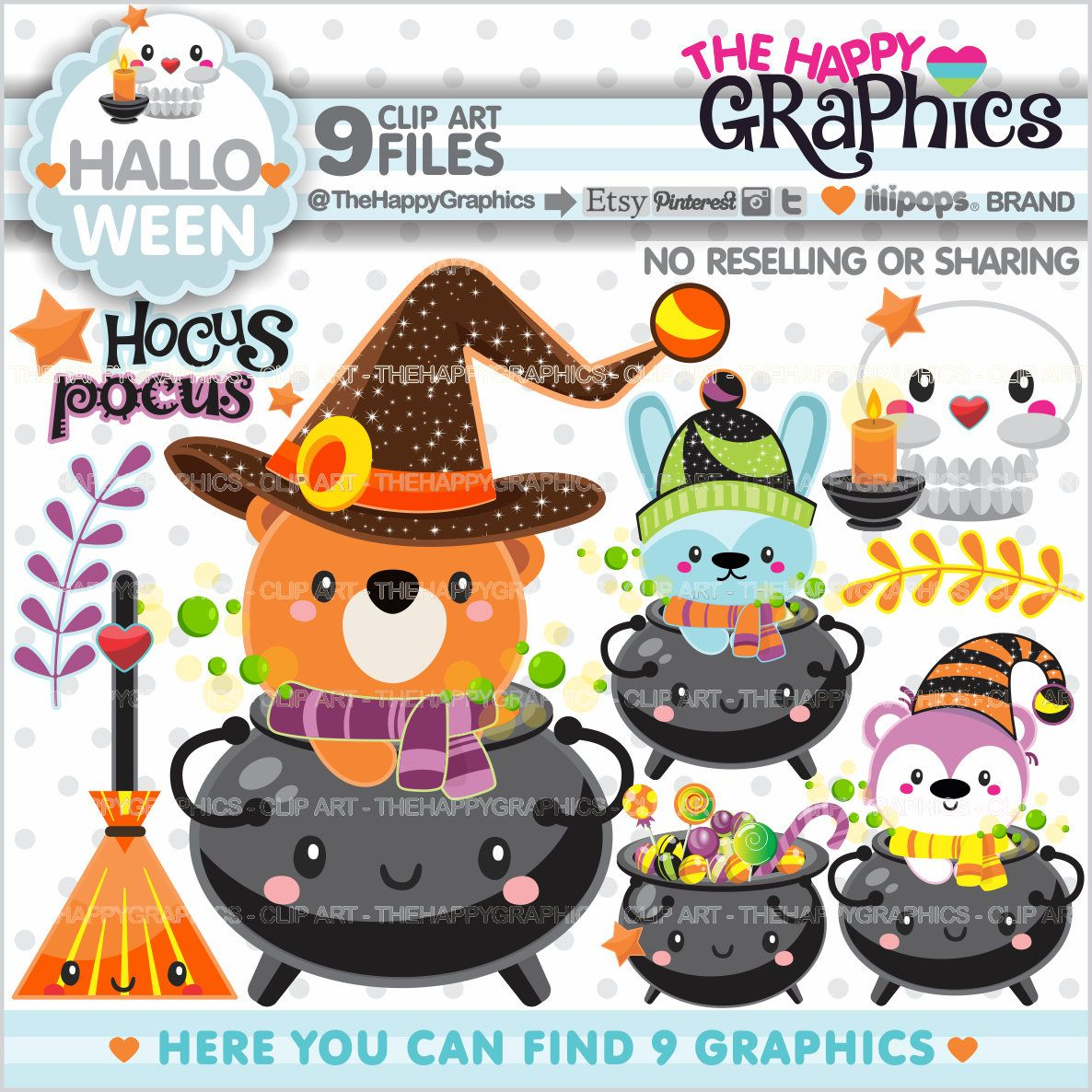 Graphic commercial use . Clipart halloween celebration
