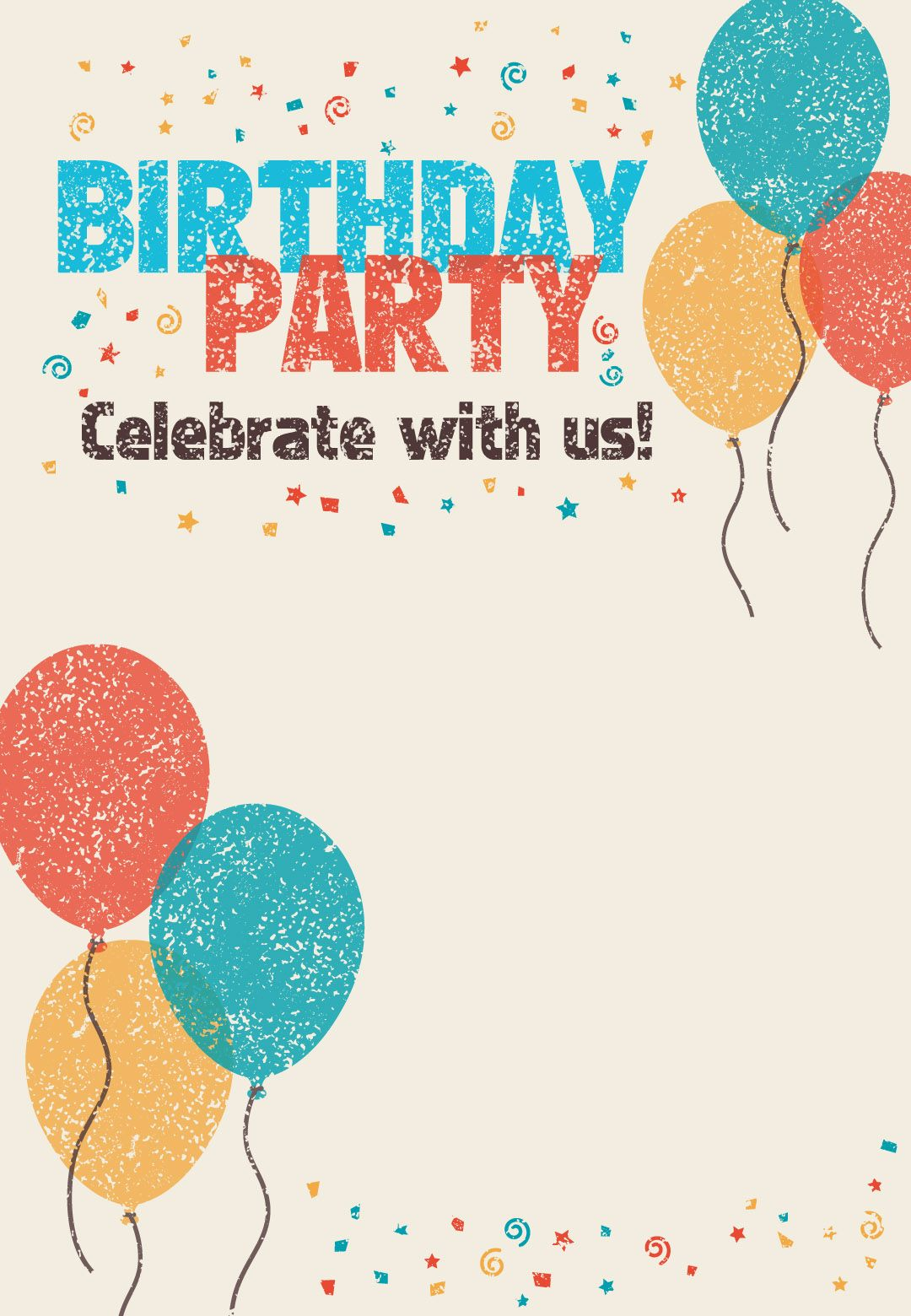 Free printable with us. Celebrate clipart invitation