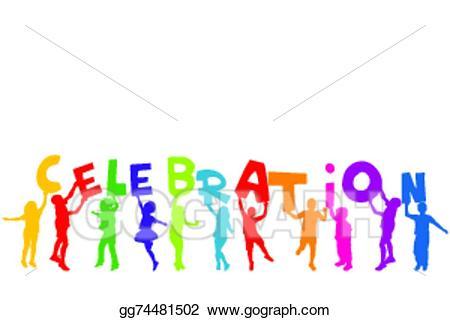 Vector illustration group of. Celebrate clipart logo