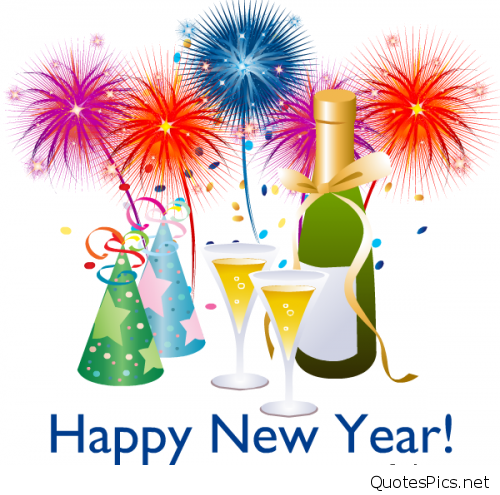 Happy year cards wishes. Celebrate clipart new years day