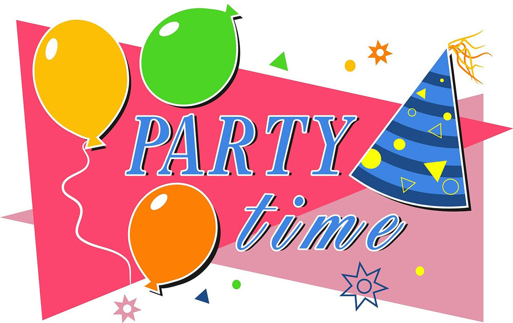 Birthday let s www. Celebrate clipart party