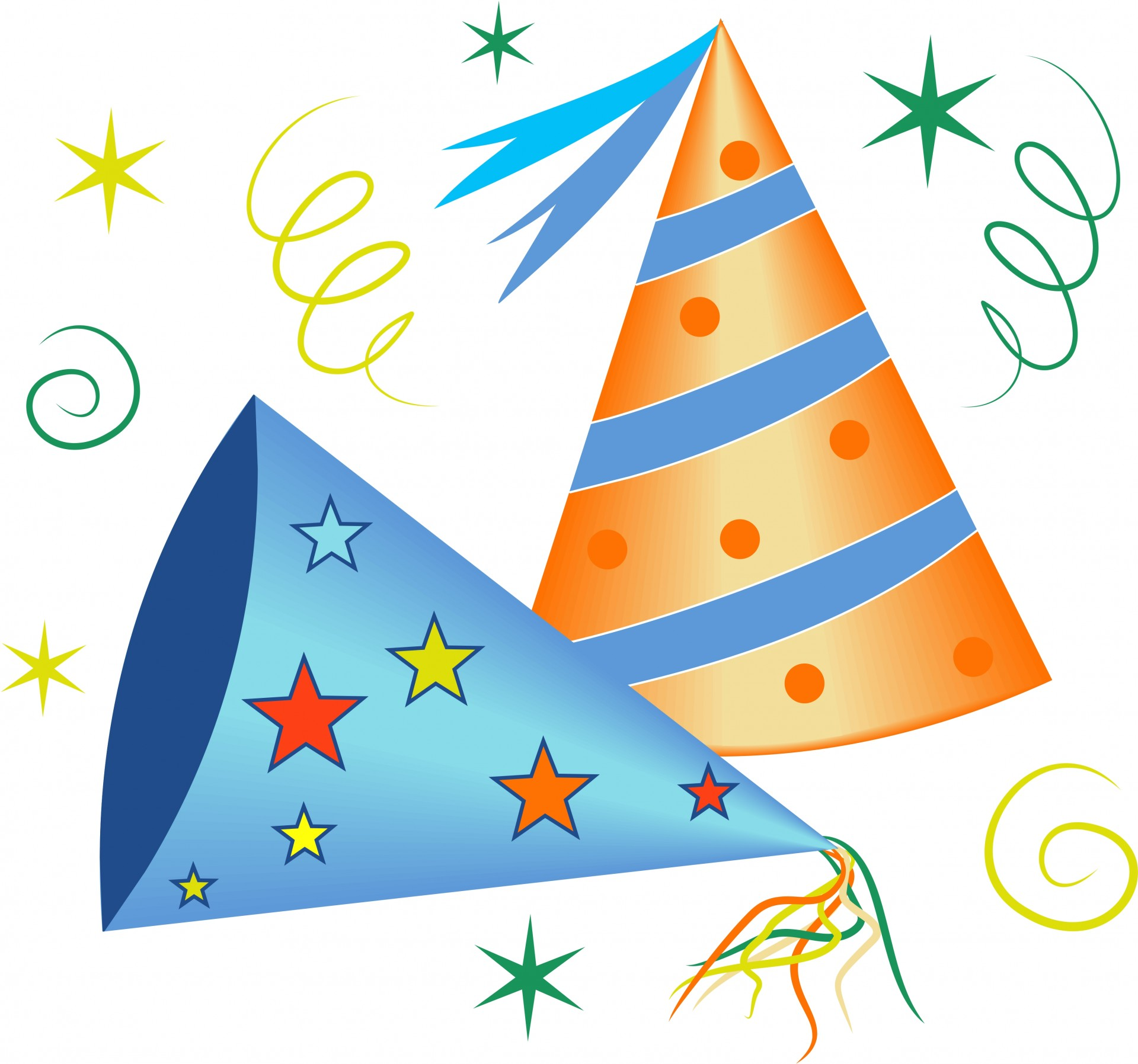 Celebrate clipart party. Celebration hats free stock