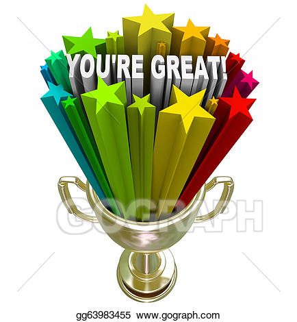 Celebrate clipart recognition. Drawing you re great