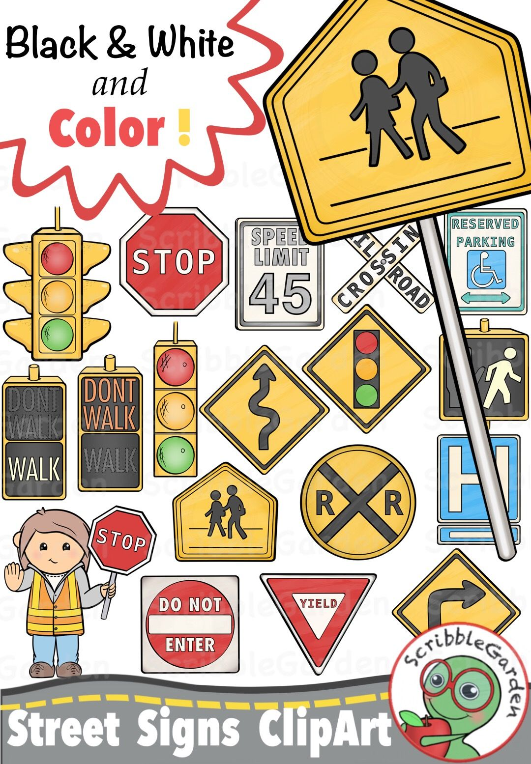 Celebrate clipart safety. Road street signs safetystreet